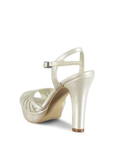 Marjin Topuklu Ayakkabı Beyaz